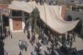 مراسم برپایی خیام حضرت ابا عبدالله الحسین(ع)خانه وقفی چترود